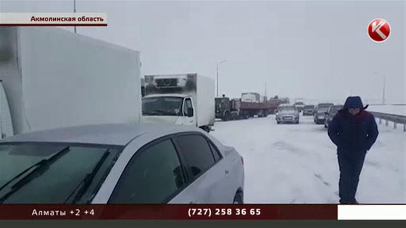 На трассу Щучинск – Астана машины выпускают колоннами