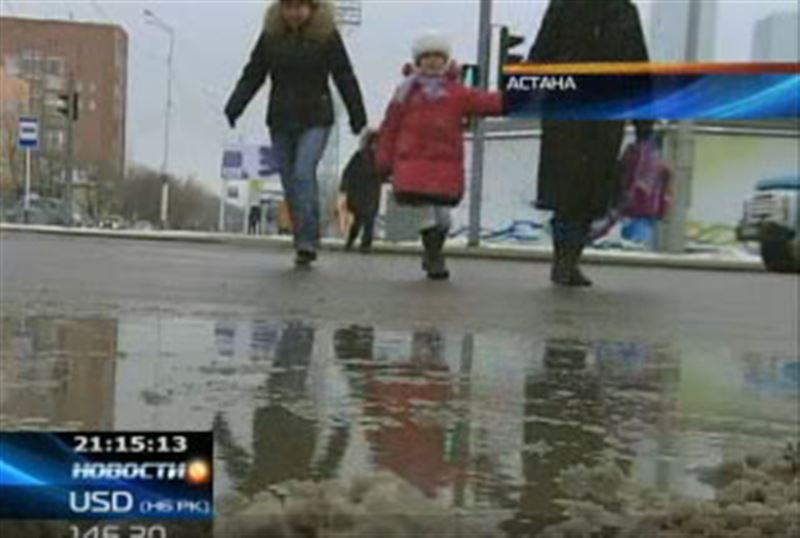 В столице Казахстана впервые за последние полвека шел зимний дождь