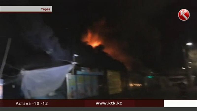 В Таразе разыскивают поджигателей, которые спалили 18 бутиков