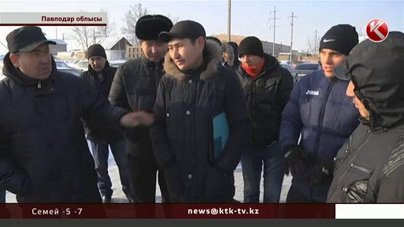 Павлодар облысында жалақы алмаған жұмысшылар шу шығарды
