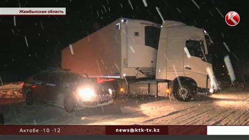 В Жамбылской области выпало до полуметра снега