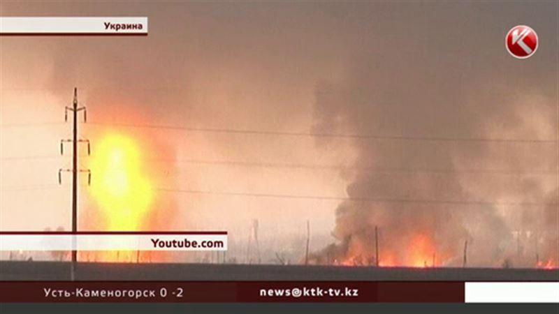 Осколки с горящего под Харьковом склада боеприпасов летят на 40 километров