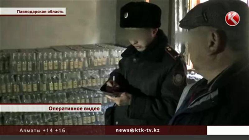Три тысячи бутылок водки забрали у жителя Экибастуза оперативники