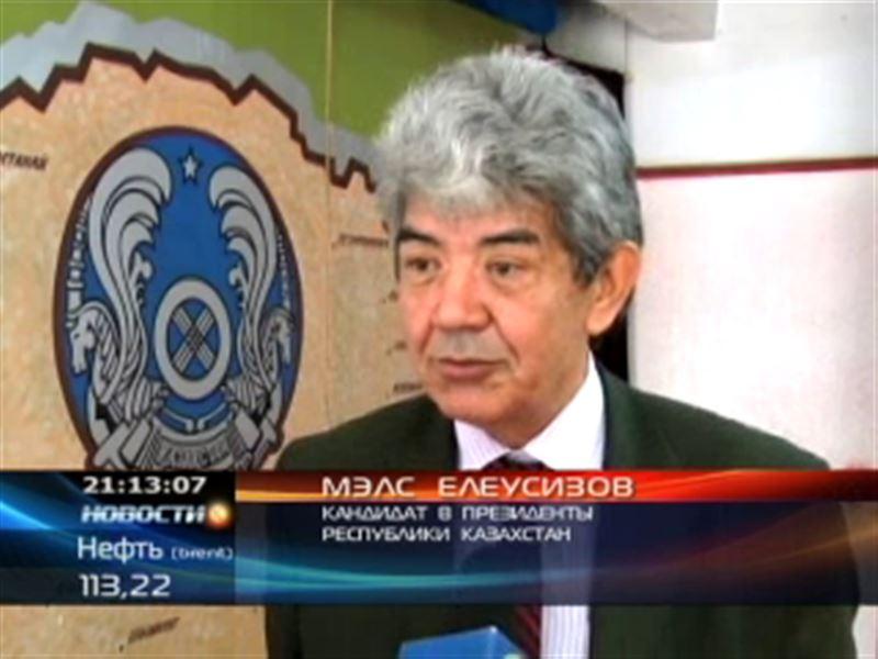 Мэлс Елеусизов провел весь день в Южном Казахстане
