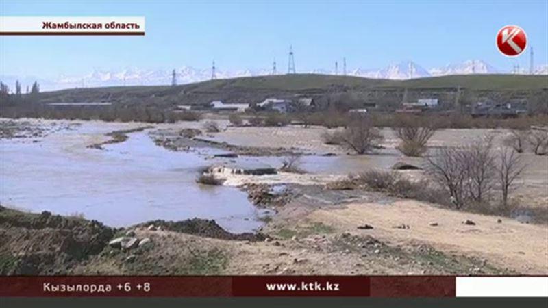 В Жамбылской области маленькая речушка чуть не затопила три поселка