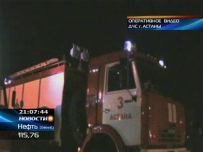 Крупный пожар в центре Астаны