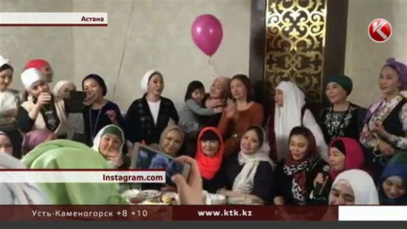 Жена Кыдырали Болманова оскандалилась, шумно отметив день рождения в мечети Хазрет Султан