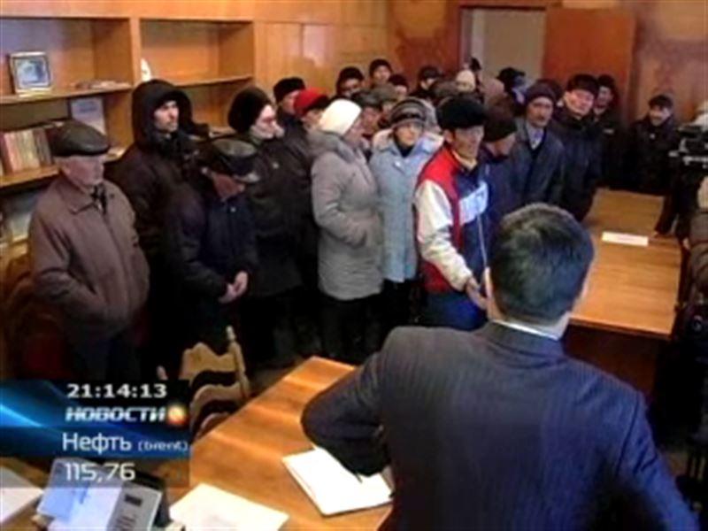 Карагандинские рабочие штурмовали кабинет директора цементного завода