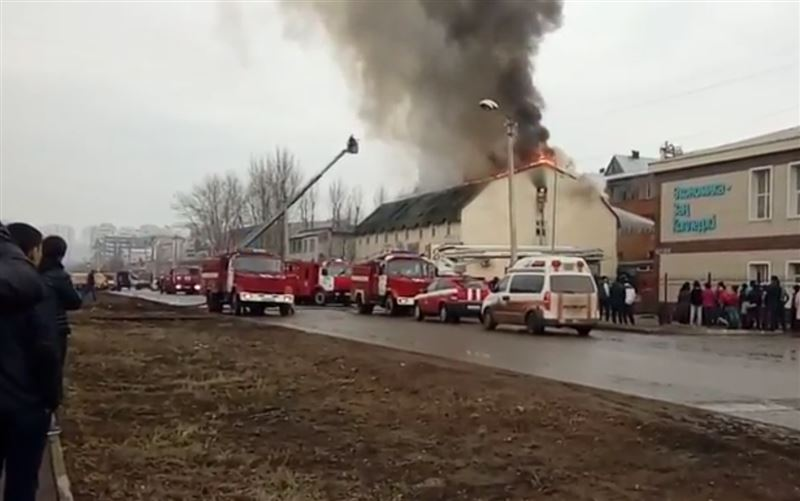Пожар произошел в общежитии в Астане