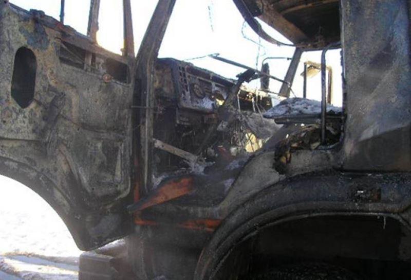 Маленький мальчик сгорел в КамАЗе в Павлодарской области
