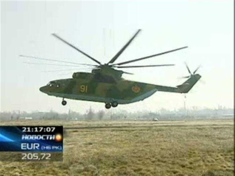 В небе близ Алматы можно было увидеть «Летающую корову» - вертолет  Ми-26