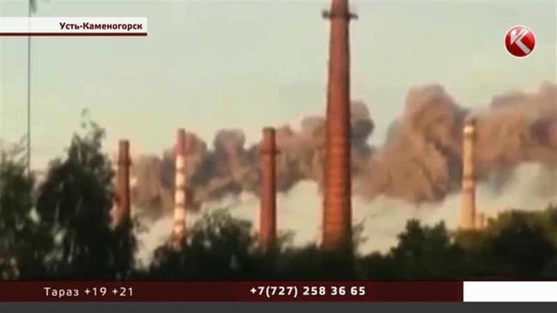 Над Усть-Каменогорском снова клубы черного дыма