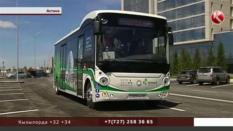 Два электробуса будут возить пассажиров по Астане, причем бесплатно