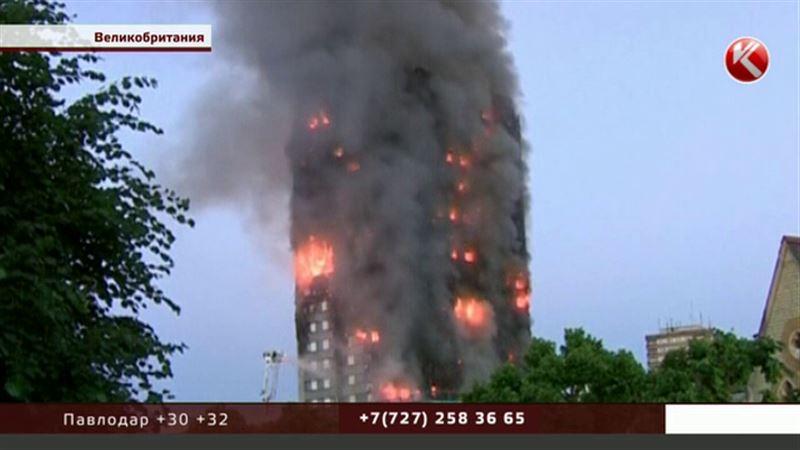 Башня Гренфелл-тауэр горит в Лондоне
