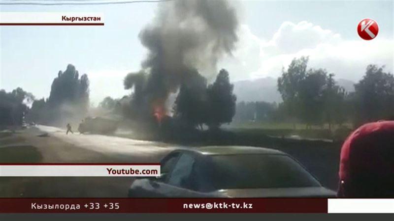 При пожаре на АЗС в Кыргызстане погибли мужчина и ребенок