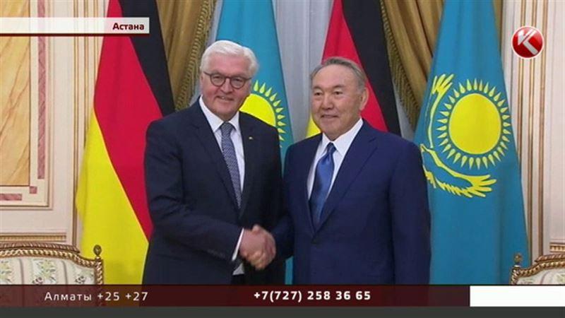 Нурсултан Назарбаев и Франк-Вальтер Штайнмайер дружески побеседовали