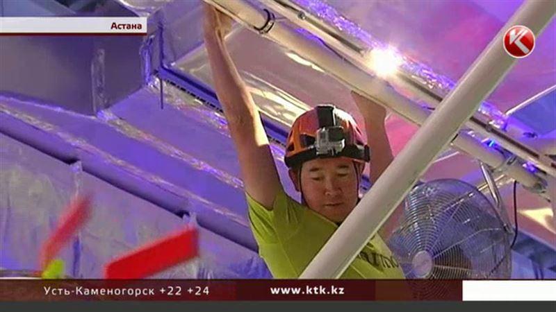 Человек-паук на ЭКСПО: казахстанский альпинист покорил австрийский павильон