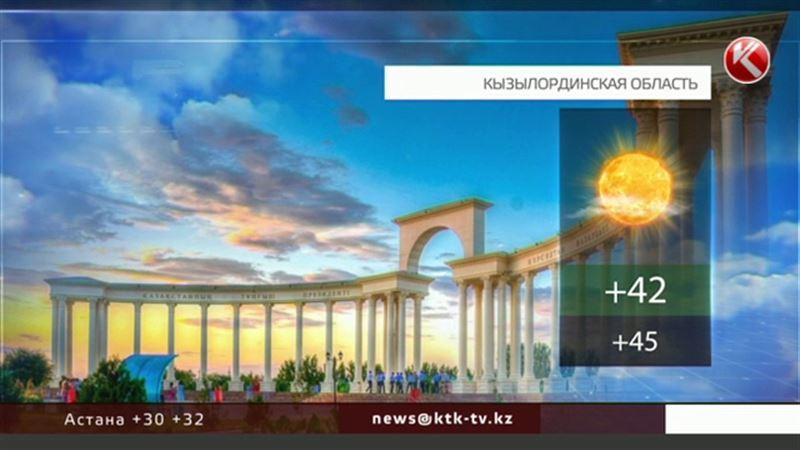 Погодные рекорды: плюс 45 обещают на юге Казахстана