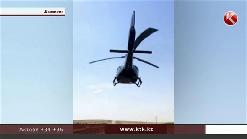И неба было мало: свадебные кортежи в ЮКО теперь сопровождают вертолеты