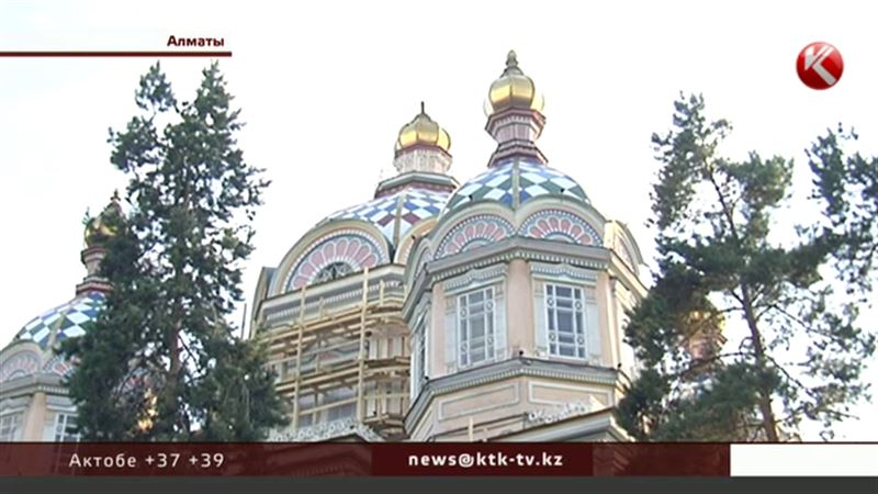Алматинский кафедральный собор остался без крестов