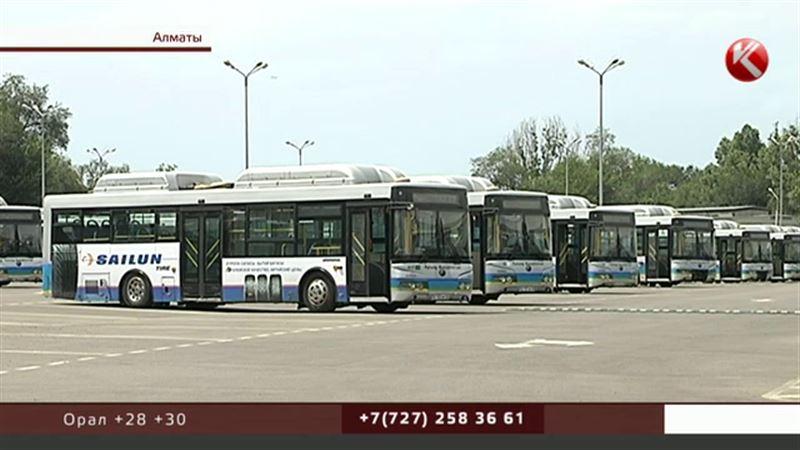 Наразылық: Алматыда автобус жүргізушілері жұмысқа шығудан бас тартып жатыр
