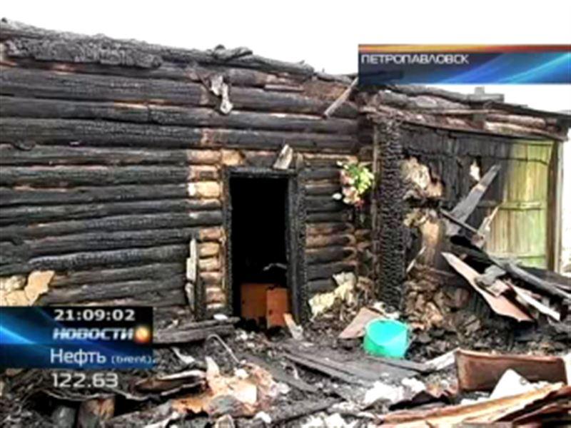 В Петропавловске целая семья стала жертвой крупного пожара