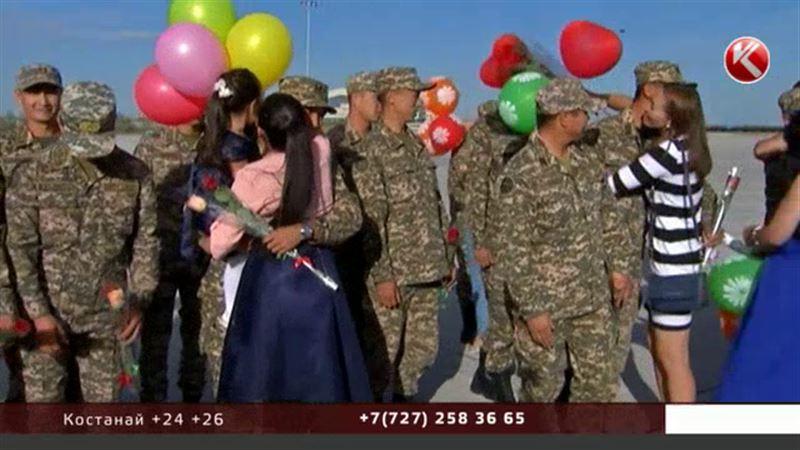 Казахстанских танкистов встретили как героев