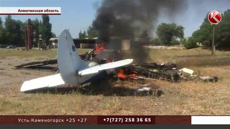 Пилот не справился – причина крушения самолета в Алматинской области