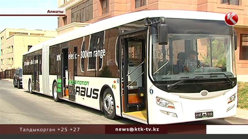 В Алматы простаивает немецкий электробус за 600 тысяч евро