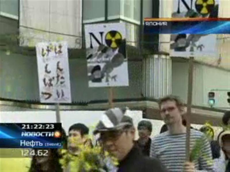 В Токио несколько тысяч японцев устроили акцию протеста против атомной энергетики