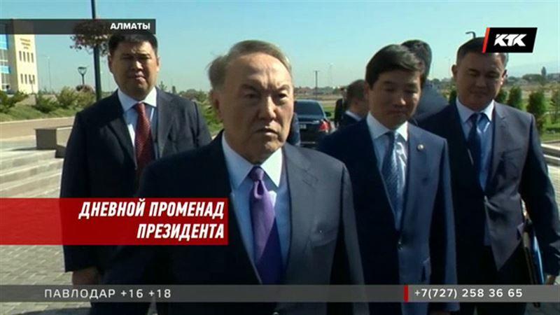 Назарбаев прогулялся по Алматы
