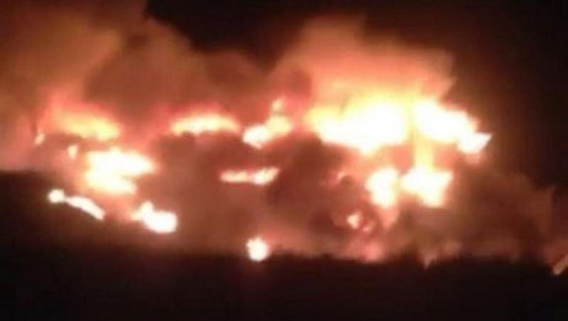 На трассе Алматы – Екатеринбург сгорел грузовик
