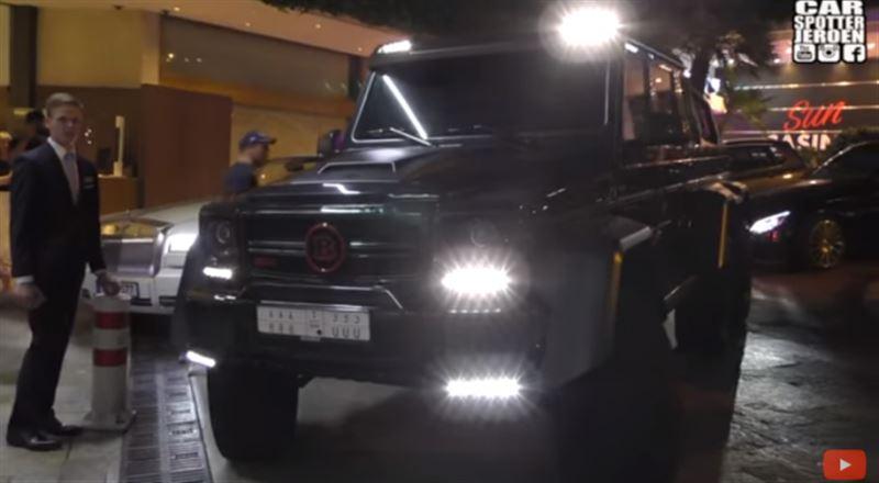 Джип арабского шейха Brabus выдворили из Монако
