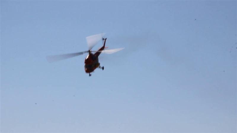 Вертолет Ми‐2 совершил жесткую посадку в Акмолинской области, есть пострадавшие