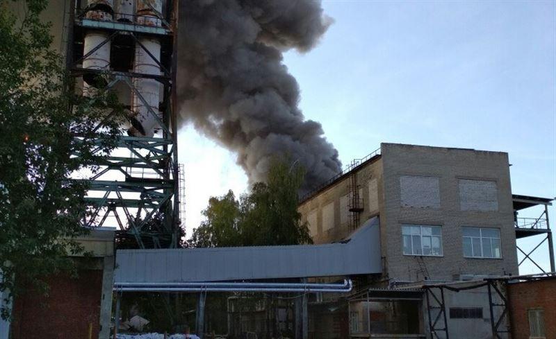 Загорелся склад мебельной фабрики в Чехове
