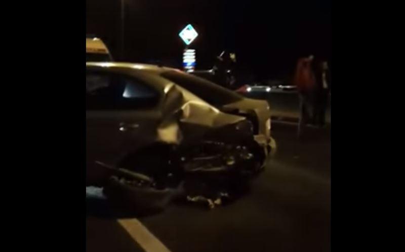 ВИДЕО: ДТП на МКАД-е с участием шести машин