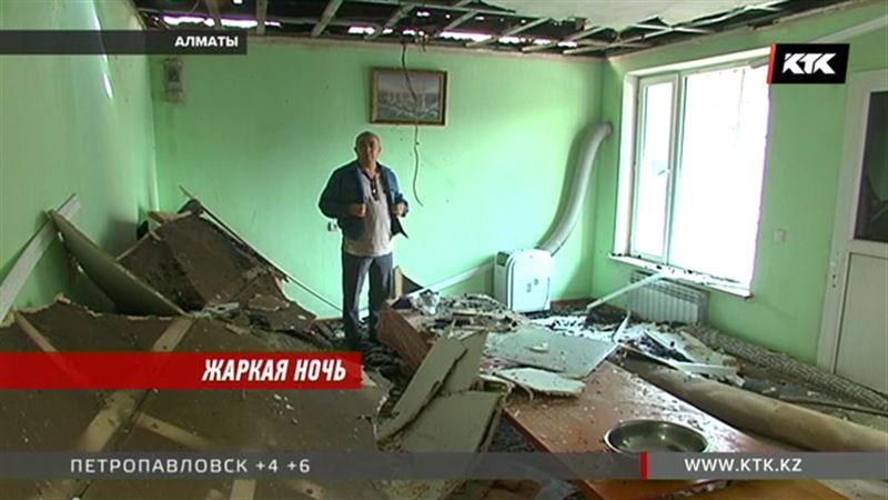 Короткое замыкание – вероятная причина крупного пожара в Алматы