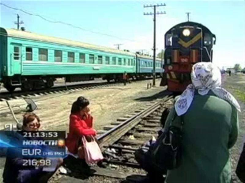 В Мангистауской области протестуют железнодорожники