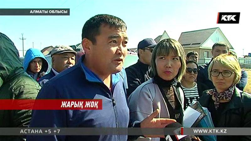 Алматы облысыдағы Боралдай ауылының тұрғындары трансформатор үшін жаға жыртысты