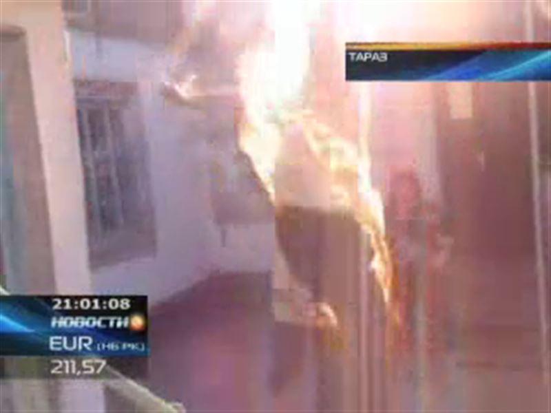 Попытка самосожжения в Таразе