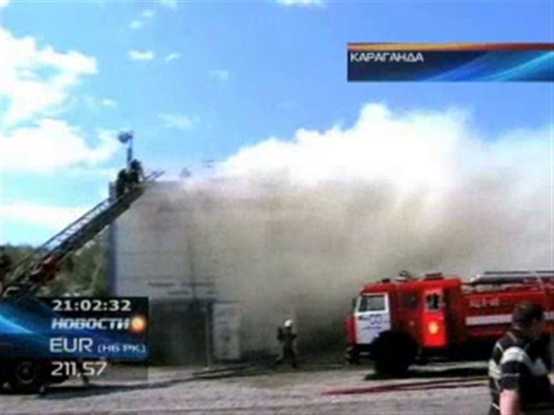Масштабный пожар в Караганде