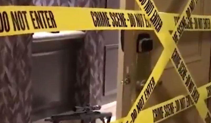 В Сети появилось видео из номера стрелка в гостинице Лас-Вегаса