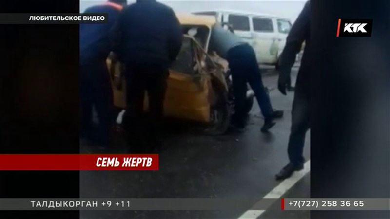 На трассе Астана - Атбасар погибли семь человек