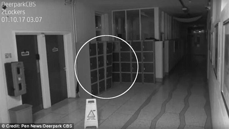 Камеры видеонаблюдения сняли паранормальное явление в ирландской школе