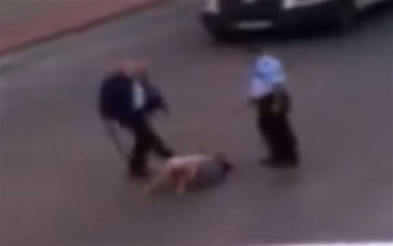 На улице полицейские избили женщину