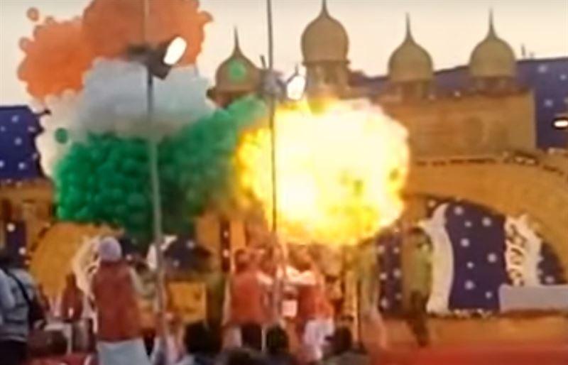 15 человек пострадало при взрыве воздушных шариков