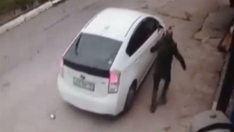 Женщина задавила собаку на глазах хозяина