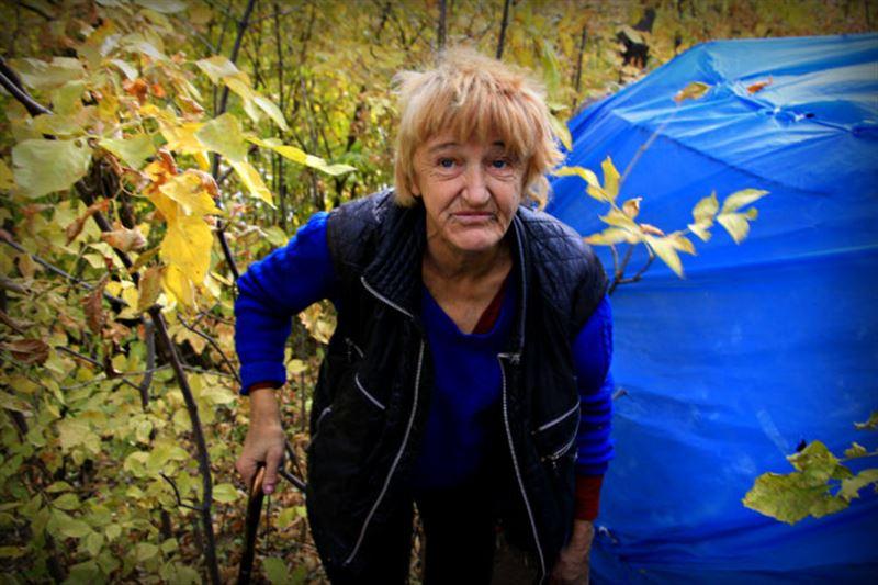 В Уральске женщина почти год живет в шалаше в лесной глуши