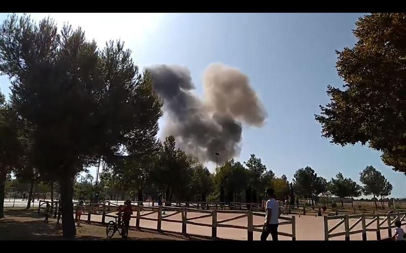 В Испании разбился истребитель