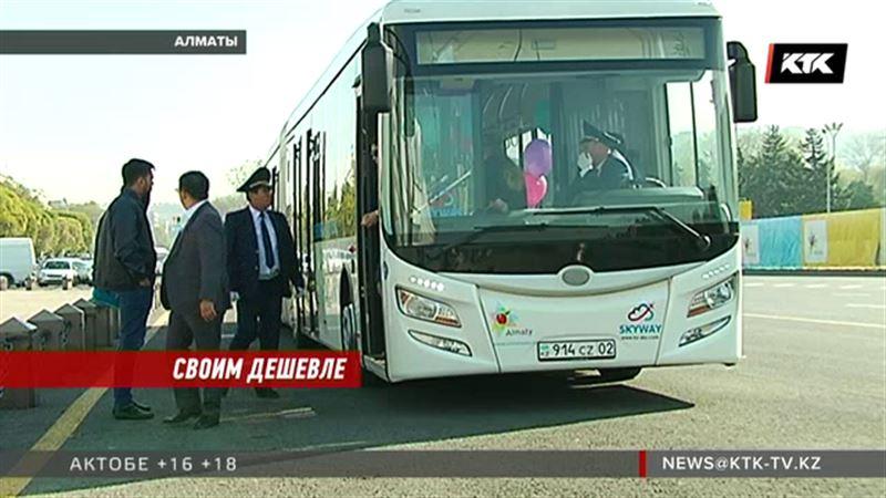 Немецкий электробус, наконец, повез туристов на Медео
